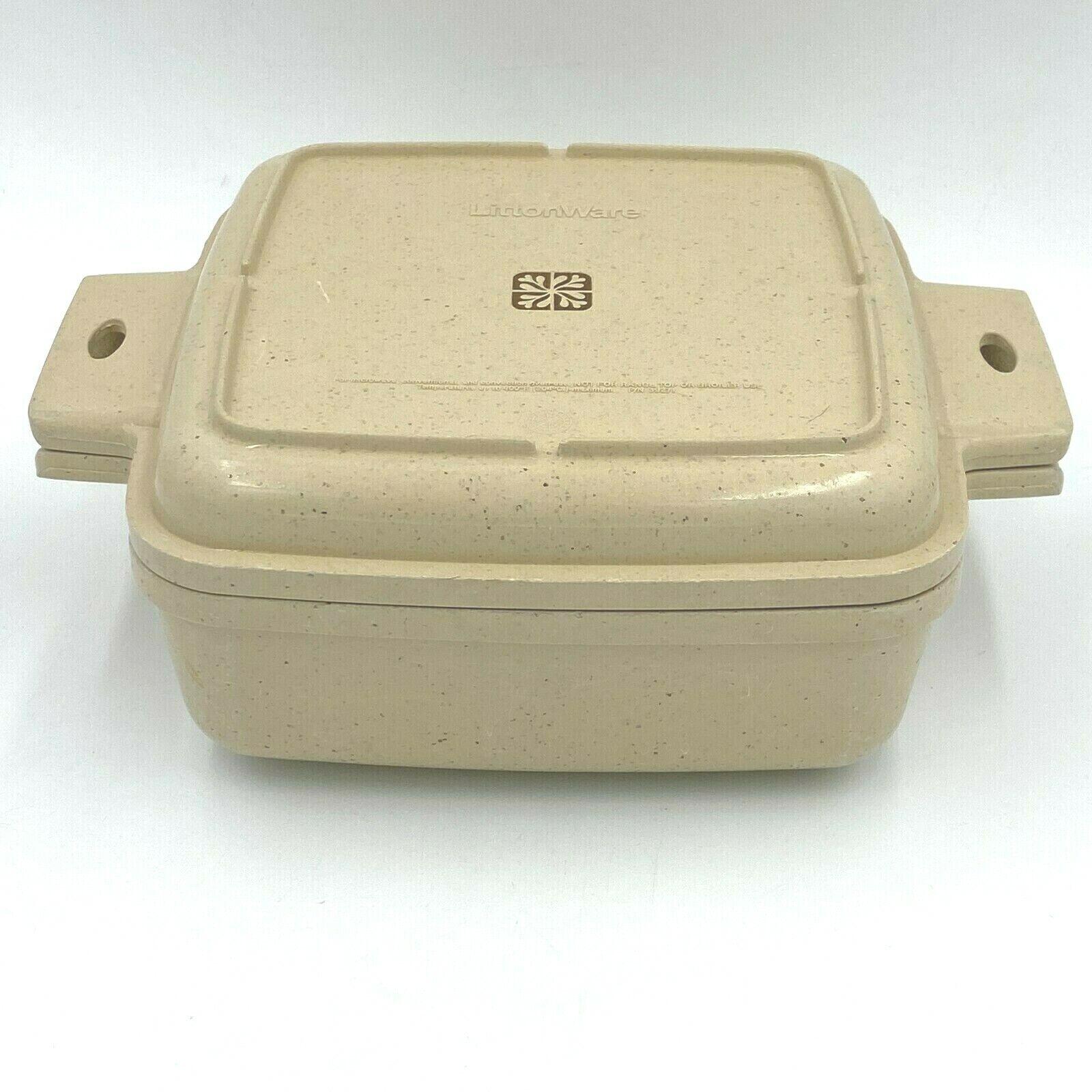 vintage littonware microwave 1 5 qt casserole dish 39271 bowl 39272 lid no crack