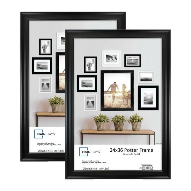 mainstays 24x36 wide 36x24 movie poster picture frame black art set of 2