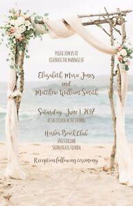 Details About Wedding Invitations Beach Arbor Destination 50 Rsvp