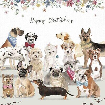 Valentine Card Design Happy Birthday Card Dog Lover