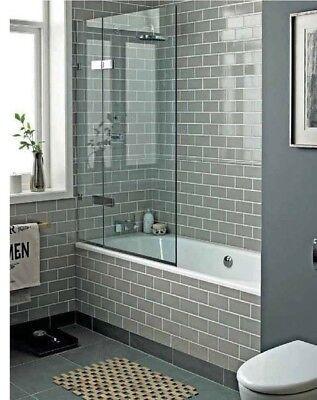 tile samples new york flat warm grey gloss metro bathroom wall tiles 10 x 20cm ebay