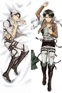 details zu anime dakimakura attack on titan levi rivaille hugging body pillow case cover