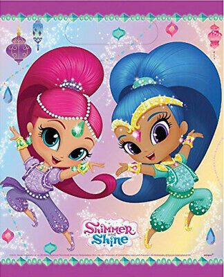 Shimmer And Shine Birthday Party Supplies Plastic Treat Loot Bags 8pcs For Favor Ebay
