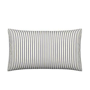 details about navy ticking lumbar pillow cover 12 x 18 farmhouse country chic