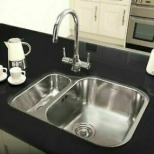 astracast humber polished stainless steel 1 5 bowl undermount sink rh small bowl 5016203764125 ebay