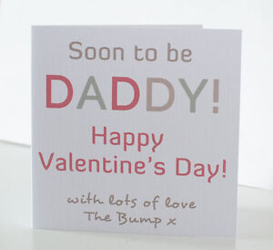 soon to be daddy valentine s day card from the p dad 1st - Valentine039s Day Greeting Cards