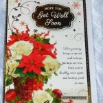 Get Well At Christmas Card Get Well Soon Christmas Thoughts Ill Best Wishes For Sale