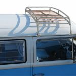 Silver Powder Coated Steel Classic Roof Rack Wooden Slat Vw T2 Splits Bay C9068p For Sale Online Ebay