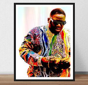 details zu biggie smalls kunst zitat b i g hip hop leben rap king poster druck rahmen