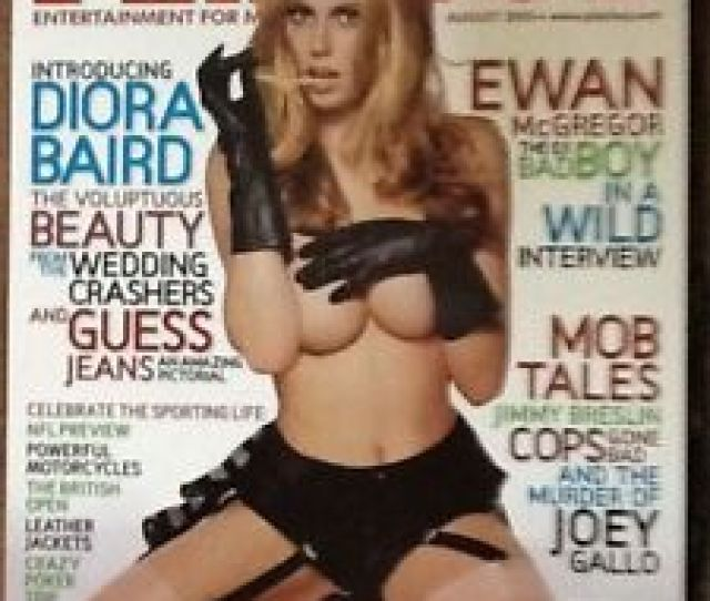 Image Is Loading Playboy Magazine August  Guess Jeans Diora Baird