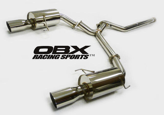 obx racing sports dual catback system for 05 06 07 subaru legacy 2 5t gt wagon