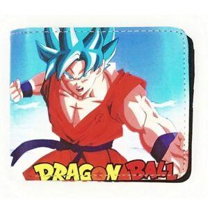 Dragon Ball Z Anime Goku Super Saiyan 5 Blue Wallet Coins Cards Notes Ebay