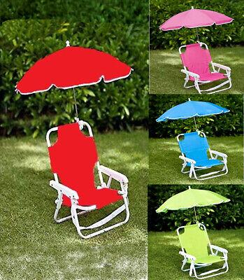 kids patio furniture chair umbrella children s sun lounger seat garden parasol ebay