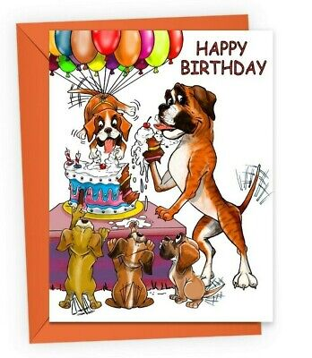 Boxer Dog Themed Birthday Card Ebay