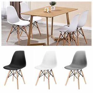 details sur 4x chaise de salle a manger scandinave chaise elegante pour coiffeuse salon bar