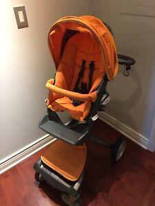 Textile For Stokke Xplory Evolution Stroller V1 V2 Orange Textile Only Ebay