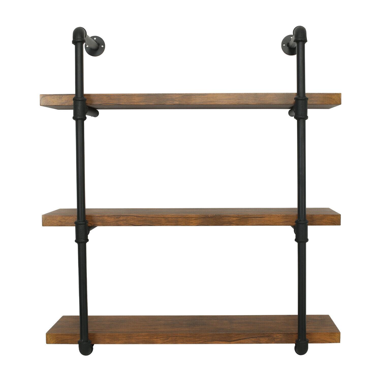 2 3 Tier Wall Shelf Industrial Iron Pipe Shelving Mounted Bookshelf Bracket