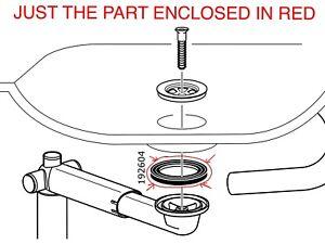details about ikea new drain plumbing gasket part rinnen 13981 bowl sink braviken odensvik