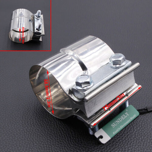 car tuning styling 2 3 lap joint exhaust band clamp preformed stainless steel for catback muffler guidohof