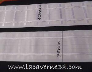 details sur 1 85m ruban fronceur ruflette blanc largeur 7 8cm 78mm rideaux couture mercerie