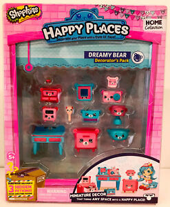 Happy Places Shopkins Season 1 Decorator Pack Dreamy Bear 630996563786 Ebay