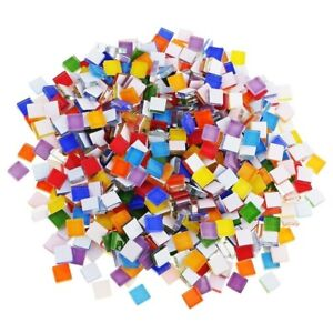 details about 110 pieces mosaic tiles stained glass assorted colors for art craft accessorie