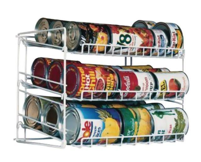 Can Food Storage Kitchen Pantry Cabinet Organizer Canned Goods Rack Holder Shelf 2