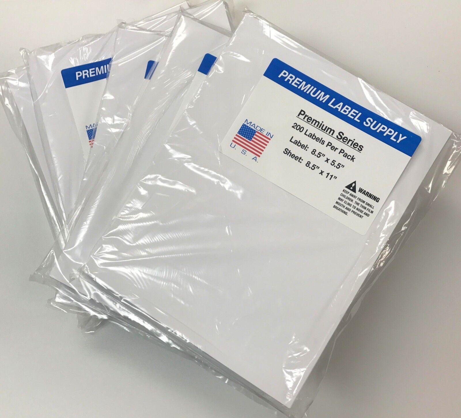 "1000 Premium 8.5 ""X 5.5"" Half Sheet Self Adhesive Shipping Labels -PLS Brand- - C'mon » TikTokJa Video Downloader"