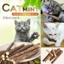 10 Cat Snacks Natural Matatabi Chew Catnip Stick Teeth Molar K0J8 Toy Brush P7R6