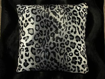 snow leopard pillow covers faux fur pillow euro sham 26x26 set of 2 ebay