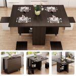 Black Corner Dining Set Breakfast Nook Kitchen Dinette 3 Pc Table Storage Bench For Sale Online Ebay