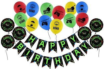 Globos De Video Games Happy Birthday Banner Gaming Balloons Party Decoration Ebay