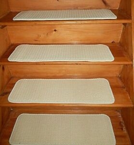 13 Step 9 X 29 Landing 22 X 29 Stair Treads Wool Woven   Wool Carpet Stair Treads   Zealand Wool   Bullnose Padded   Flooring   Plush Carpet   Cat Pet