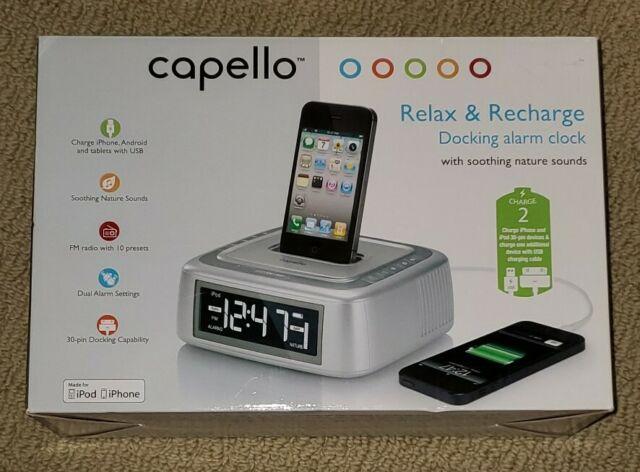 Capello Alarm Clock Fm Radio For Iphone