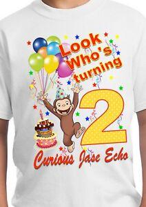 Curious George Birthday Shirt Curious George Birthday Curious George Party Ebay