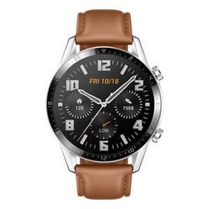 "Huawei Watch GT2 2020 Brown Leather Strap 46mm 1.39"" OLED Display Waterproof NEW"