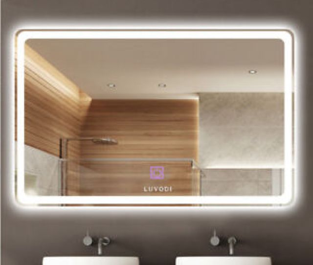 Image Is Loading 32x24 Inch Wall Mount Led Lighted Bathroom Mirror