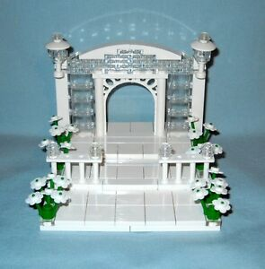 NEW CUSTOM LEGO WEDDING ARCH  STAIRS CAKE TOPPER FOR BRIDE AND GROOM     Image is loading NEW CUSTOM LEGO WEDDING ARCH STAIRS CAKE TOPPER