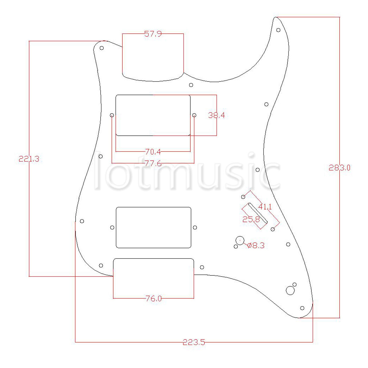 2 Prewired Loaded Hh Pickguard Humbucker Pickup For Fender