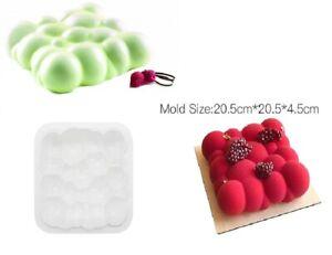 details sur moule silicone gateau forme carre nuage boule patisserie 3d entremet 20 5 4 5 cm