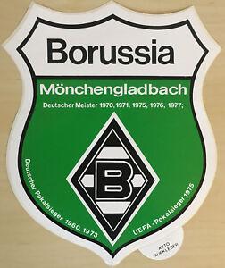 details zu borussia m gladbach aufkleber 24cm gross sticker logo bundesliga fussball 2508