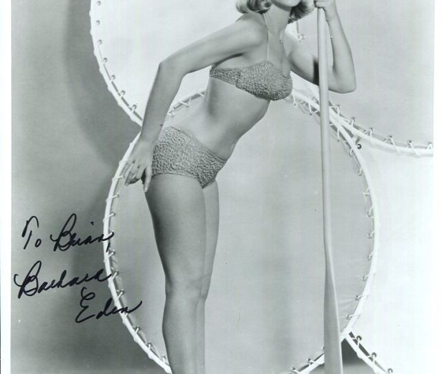 Barbara Eden Hand Signed X Photojsa Youngvery Sexy Pose To