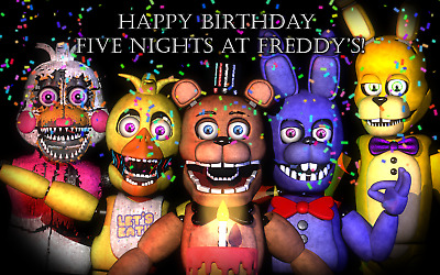 New Five Nights At Freddy S Birthday Party Supplies Tableware Balloons Decor Ebay