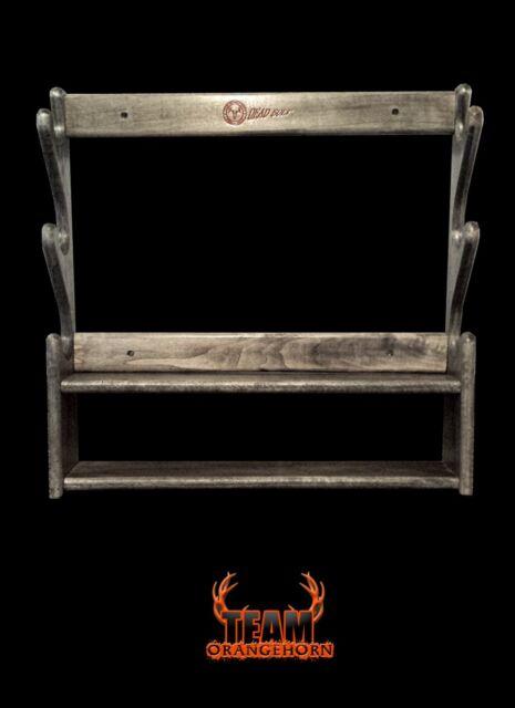 team orangehorn 3 gun rack with shelf mystic camo