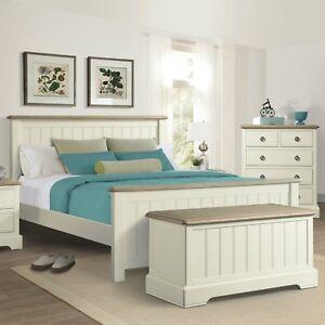 details about meghan ivory bed frame pine oak 4ft6 double 5ft kingsize 6ft super king