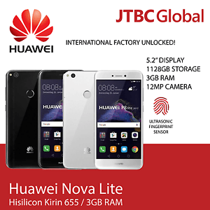 New Huawei Nova Lite PRA-XL2 5.2 Inch 4G LTE 16GB Factory Unlocked Smart Phone