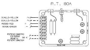 Control Module Control AVR RT80A Regulator For Mecc Alte