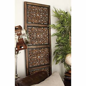 Large Rustic Tuscan Elegant Moroccan Pattern Wood Wall Panel Plaque     Image is loading Large Rustic Tuscan Elegant Moroccan Pattern Wood Wall