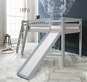 Cabin Bed Thor Midsleeper With Slide Kids Bed In Choice Of Colours Ebay