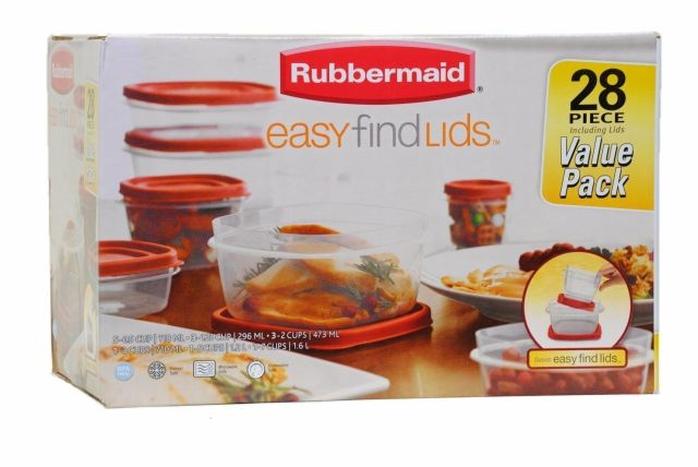 Rubbermaid Easy Find Lid Food Storage Container, 42Piece set, New, Free Shipping 2